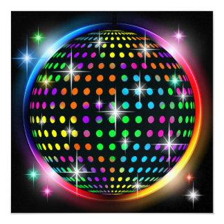 """New DISCO Party - SRF 5.25"""" Square Invitation Card"""