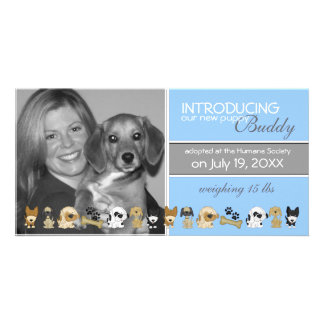 New Dog Adoption Announcement Photo Cards
