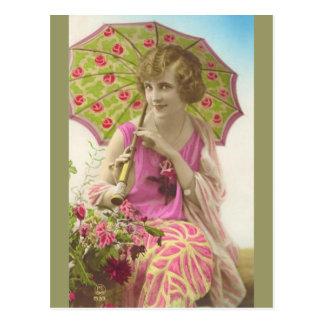 New Dress and Parasol Postcard