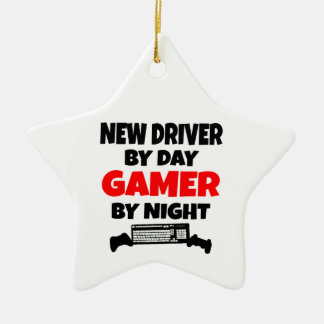 New Driver by Day Gamer by Night Christmas Ornaments