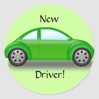 New Driver Green Car Sticker