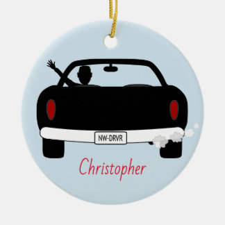 New Driver Teenage Boy Personalized Ceramic Ornament