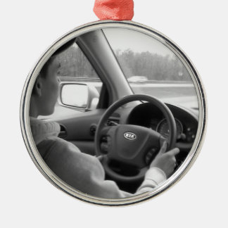 New Driver (Teenager) Metal Ornament