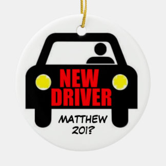 New Drivers License Keepsake Double-Sided Ceramic Round Christmas Ornament