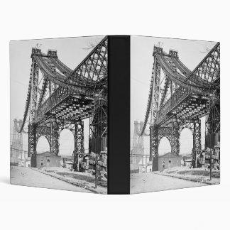 New East River bridge Brooklyn New York Vinyl Binder