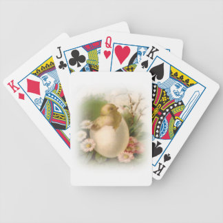 New Easter Chick Bicycle Playing Cards