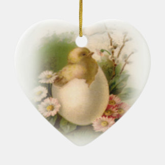 New Easter Chick Ceramic Ornament