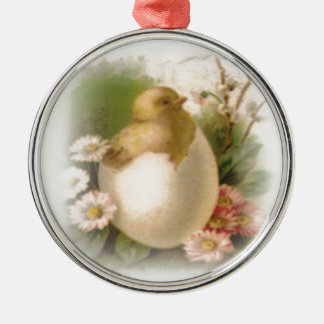 New Easter Chick Metal Ornament
