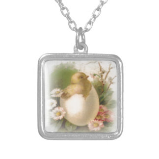 New Easter Chick Silver Plated Necklace