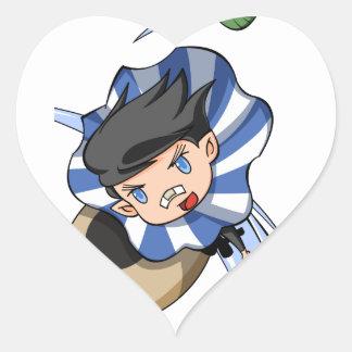 New empty tsu Kazetarou English story Mount Akagi Heart Sticker