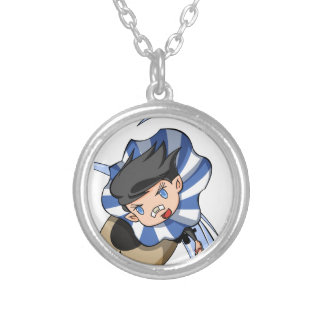 New empty tsu Kazetarou English story Mount Akagi Silver Plated Necklace