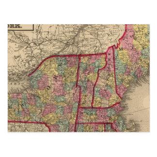 New England and New York Postcard