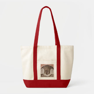 New England Angel Large Tote in Red