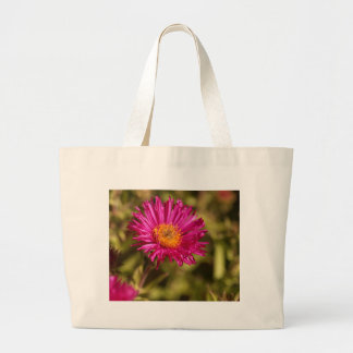 New England aster (Symphyotrichum novae angliae) Large Tote Bag