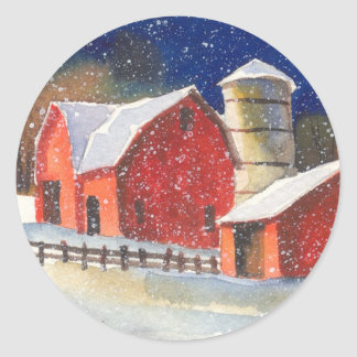New England Barns Classic Round Sticker