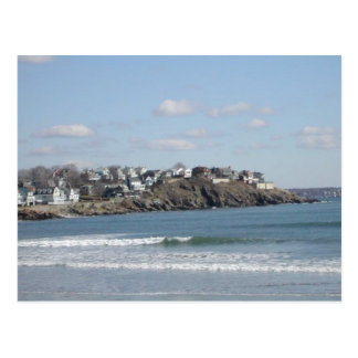 New England Beach Postcard