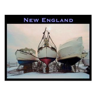 New England Boats Postcard