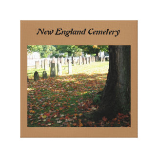 New England Cemetery Canvas Print