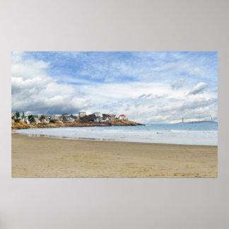 New England Coastal Scene Poster