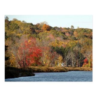New England Fall Foliage Postcard