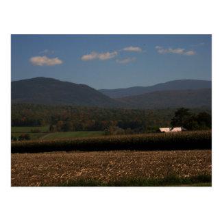 New England Farm in Fall Postcard