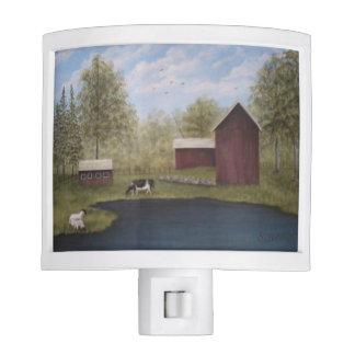 New England Farm Night Lights