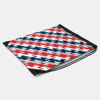 New England Football Team Colors Red White & Blue Drawstring Backpacks