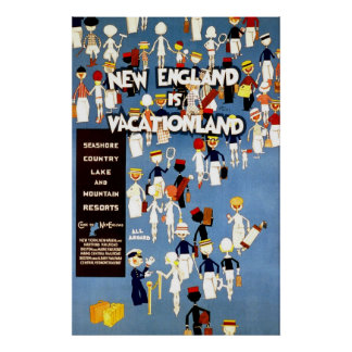 New England Is Vacationland Poster