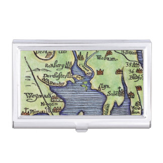 NEW ENGLAND MAP 1677 BUSINESS CARD CASE