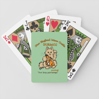New England Meow Outfit Playing Cards