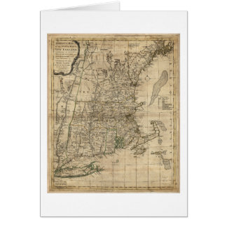 New England Revolutionary War Era Map (1776) Card