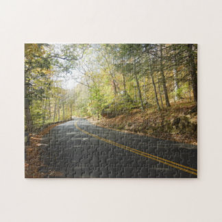 New England Scenic Autumn Road Puzzles