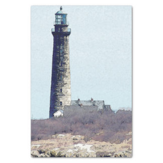 New England Stone Lighthouse Tissue Paper