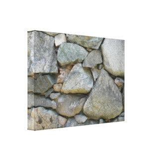 New England Stone Wall Canvas Print
