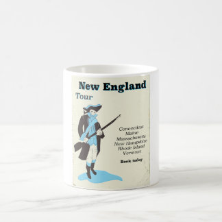 New england Tour vintage travel poster Coffee Mug