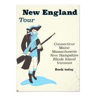 New england Tour vintage travel poster Photo