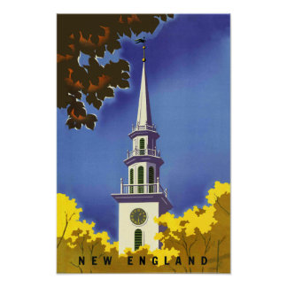 New England Travel Poster