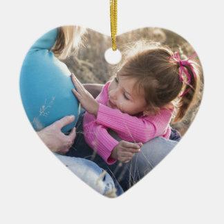 New Family Baby Ceramic Heart Ornament