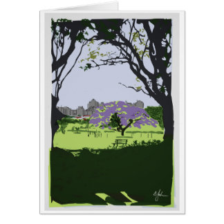 New Farm Park Brisbane Landmark Poster Style Card