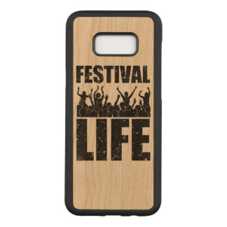 New FESTIVAL LIFE (blk) Carved Samsung Galaxy S8+ Case