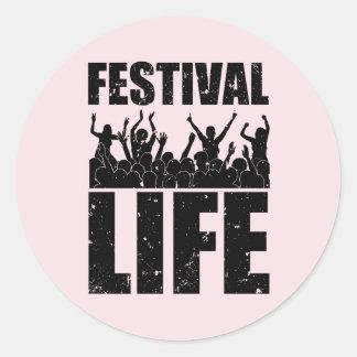 New FESTIVAL LIFE (blk) Classic Round Sticker
