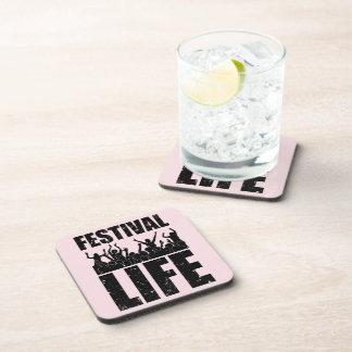New FESTIVAL LIFE (blk) Coaster