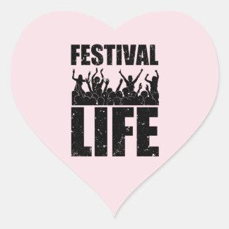 New FESTIVAL LIFE (blk) Heart Sticker