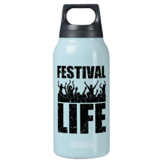 New FESTIVAL LIFE (blk) Insulated Water Bottle