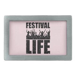 New FESTIVAL LIFE (blk) Rectangular Belt Buckles
