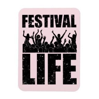 New FESTIVAL LIFE (blk) Rectangular Photo Magnet