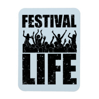 New FESTIVAL LIFE (blk) Rectangular Photo Magnet