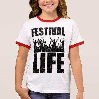 New FESTIVAL LIFE (blk) Ringer T-Shirt
