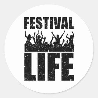 New FESTIVAL LIFE (blk) Round Sticker