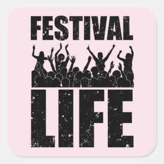 New FESTIVAL LIFE (blk) Square Sticker